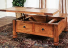 best wood for coffee table top with drawers