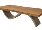 best wood for coffee table top with metal legs