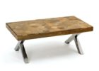 best wood for coffee table top with metal legs designs