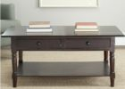black cherry wood coffee table with drawers