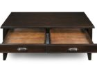 black cherry wood coffee table with drawers designs