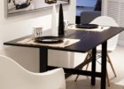 black extension drop leaf dining table for small spaces