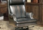 black leather smoking chair