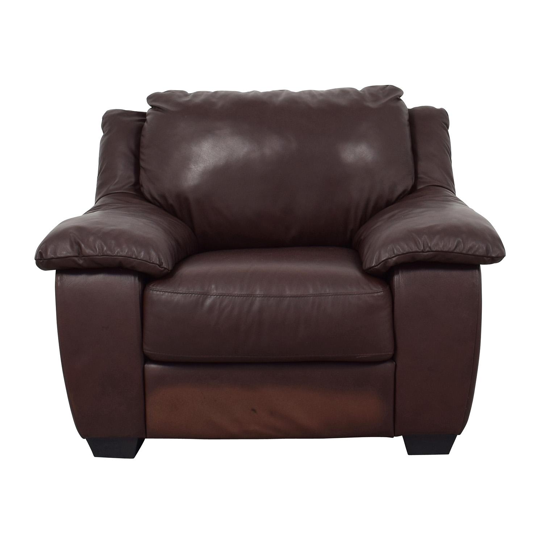 black macys leather chair