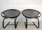 black mid century patio furniture for sale