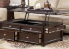 black solid wood lift top coffee table with storage