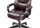 black swivel realspace fosner high back bonded leather chair