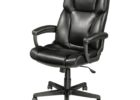 black swivel realspace fosner high back bonded leather chair furniture