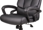 black top grain leather office chair