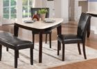 black triangle dining table with bench designs