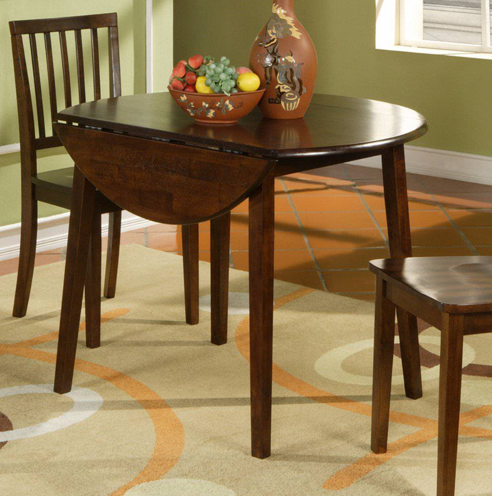 black wood drop leaf dining table for small spaces