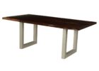 black wood live edge dining table for sale