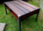 black wood pallet coffee table for sale