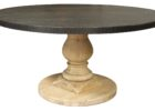 black zinc top round dining table 42 inch diameter