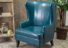 blue leather club chair slipcovers