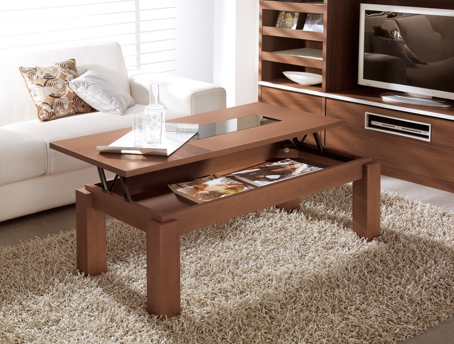 solid wood lift top coffee table furniture. Black Bedroom Furniture Sets. Home Design Ideas