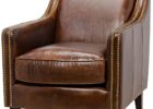 brown leather smoking chair