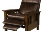 brown macys leather chair recliner