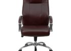 brown top grain leather office chair furniture