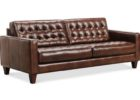 brown tufted couch macys leather chair