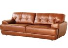 brown tufted macys leather chair