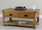 chalk cherry wood coffee table with drawers