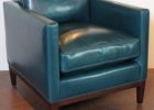 charles nay blue leather club chair