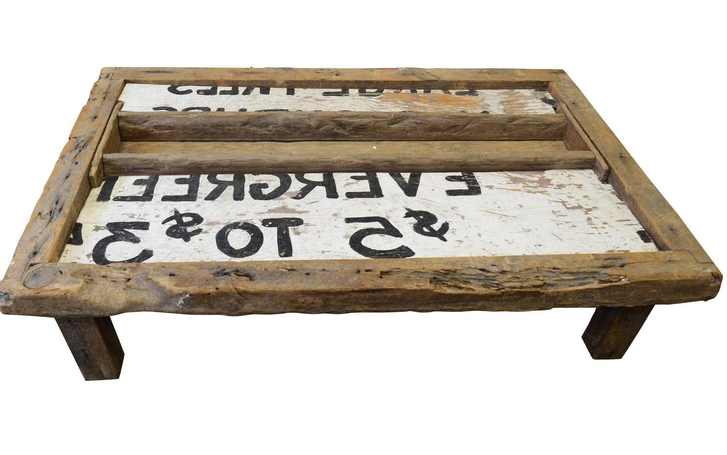 barn wood coffee table for sale with drawers