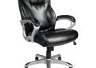 cheap black realspace fosner high back bonded leather chair