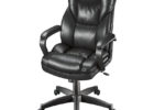 cheap black swivel realspace fosner high back bonded leather chair