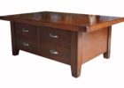 cheap cherry wood coffee table with drawers