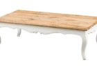 cheap modern white distressed wood coffee table for sale