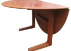 cheap round drop leaf dining table for small spaces