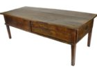 cheap rustic cherry wood coffee table with drawers