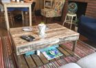 cheap rustic wood pallet coffee table for sale