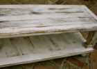 cheap white distressed wood coffee table