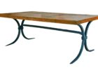 cheap wrought iron coffee table with wood top