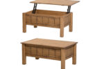 cherry solid wood lift top coffee table