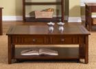 cherry wood coffee table with drawers designs