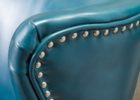 christoper knight blue leather club chair
