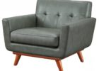 contemporary grey leather smoking chair