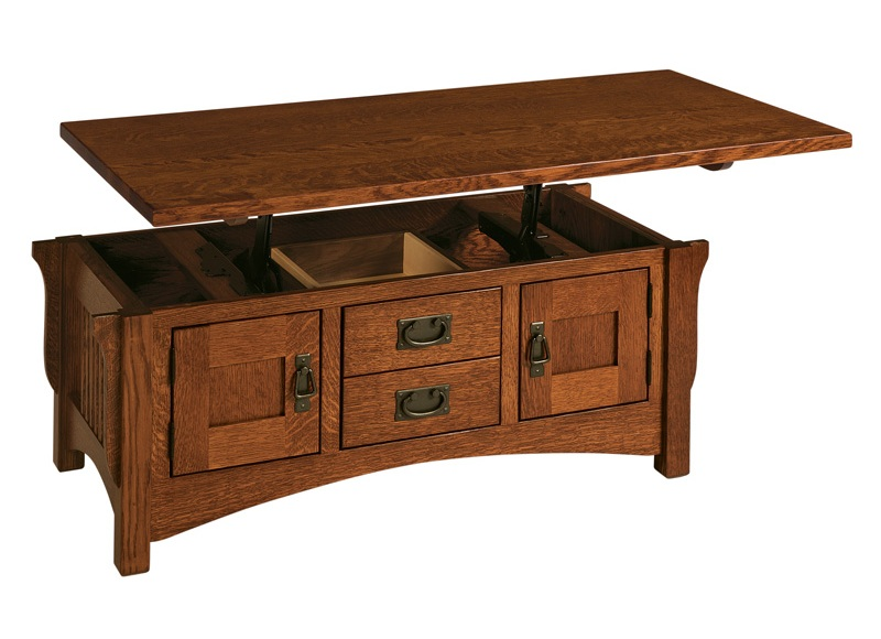 contemporary solid wood lift top coffee table