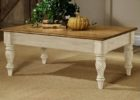 contemporary white distressed wood coffee table design