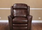 dark brown leather smoking chair
