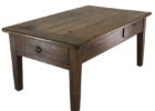dark cherry wood coffee table with drawers