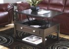 dark solid wood lift top coffee table