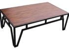 dark wood chest coffee table with metal legs