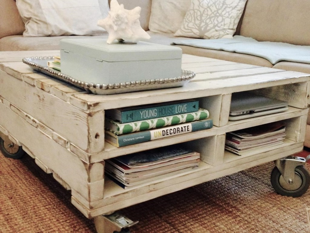 discount wood pallet coffee table for sale