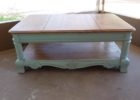 distressed dark wood coffee table for living room