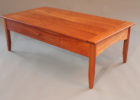 diy cherry wood coffee table with drawers